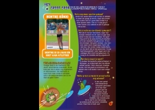 Sportwijs pagina met discuswerpen