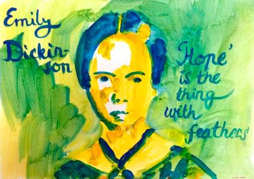 Emily Dickinson tekening